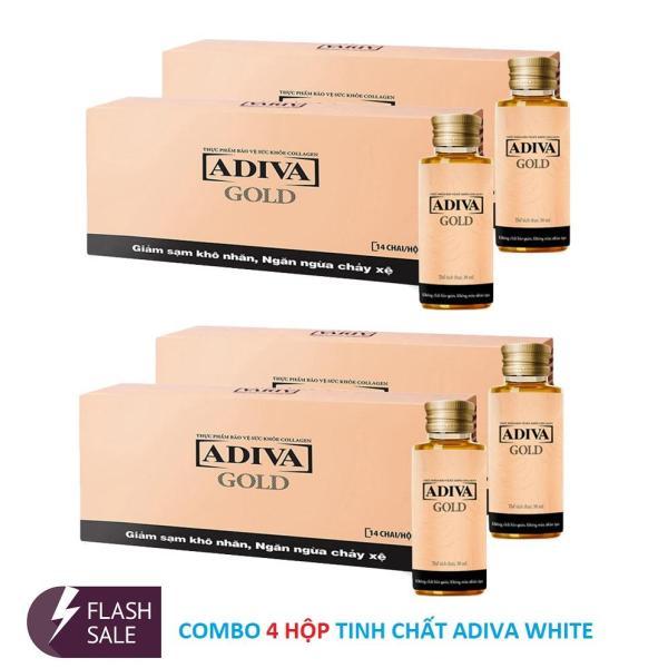 Bộ 4 Hộp Tinh chất Collagen ADIVA GOLD (Hộp 14 lọ x 30 ml)