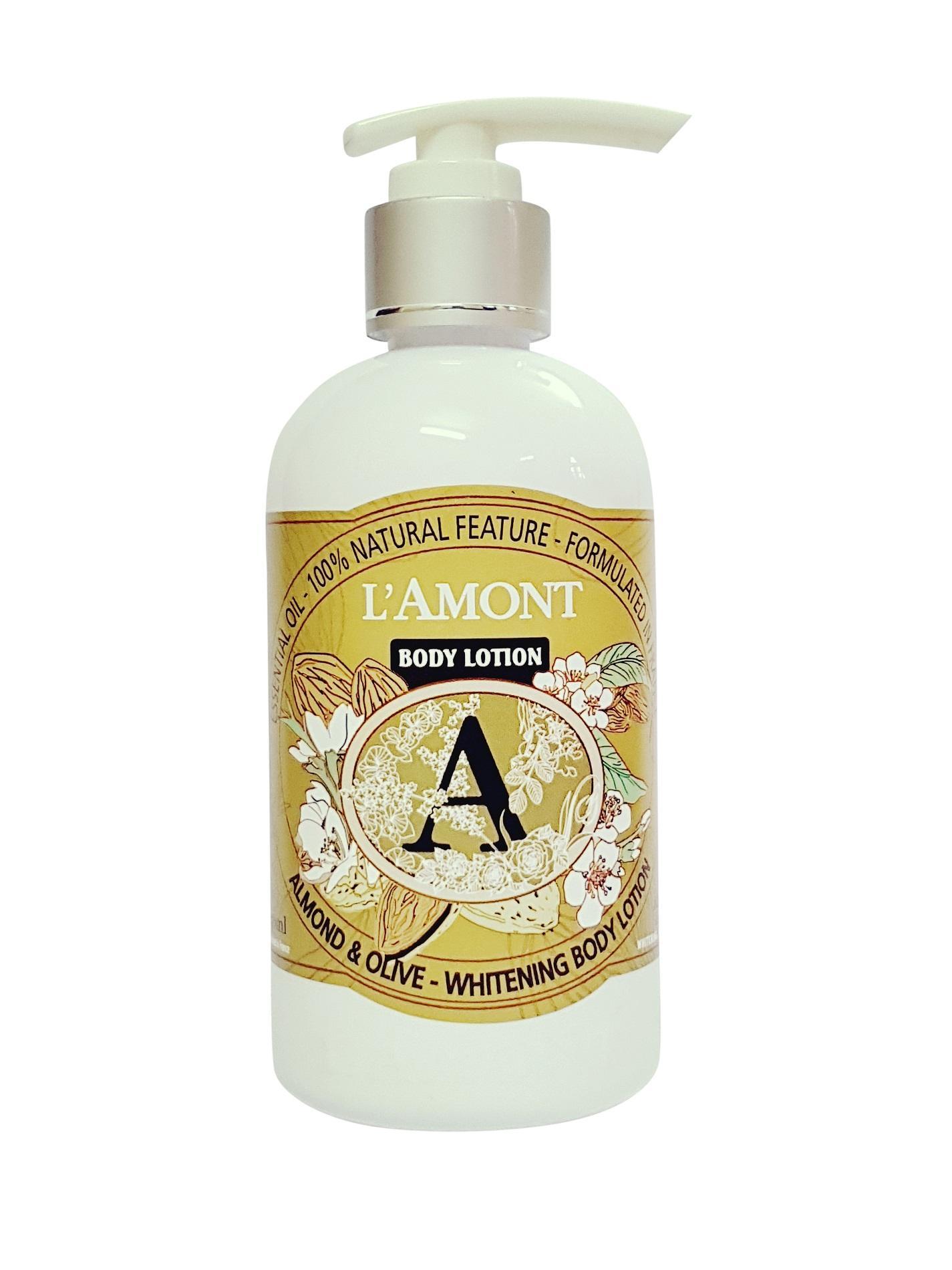 Sữa Dưỡng Thể Lamont En Provence Almond & Olive Whitening Body Lotion Chai 250ml tốt nhất