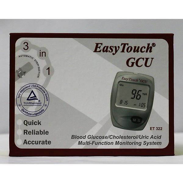 Máy đo ba chức năng Easy Touch GCU ET 322 - đường huyết, mỡ máu, gout