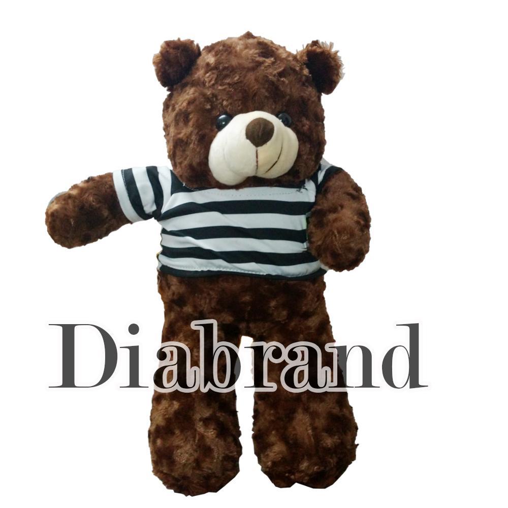 Hình ảnh Gấu bông cao cấp Teddy áo thun màu nâu Size 50cm hàng VNXK