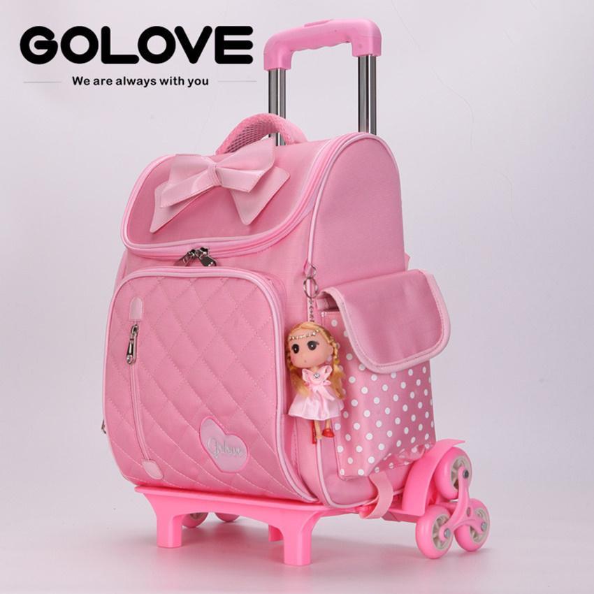 balo cần kéo du lịch.ms 148.sở hữu ngay Balo chống gù lưng học sinh Golove kèm búp bê xinh xắn (Pink)- giảm giá đến 50% ngay hôm nay
