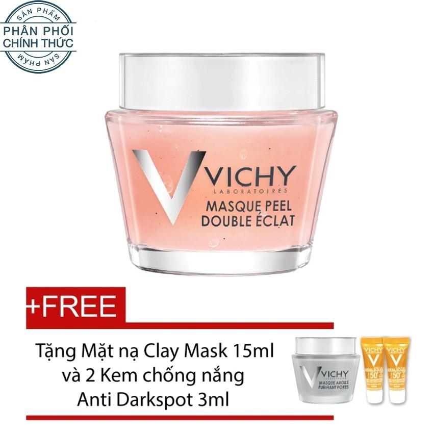 Ôn Tập Mặt Nạ Vichy Double Glow Peel Mask 75Ml Tặng 1 Mặt Nạ Clay Mask 15Ml Va 2 Kem Chống Nắng Ideal Soleil 3Ml