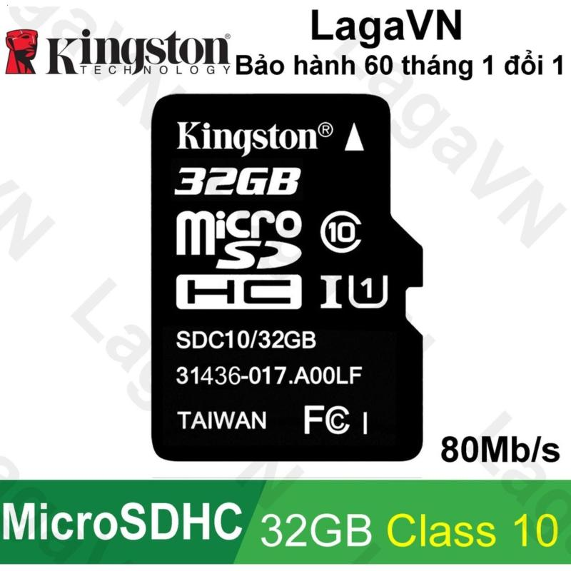 Thẻ nhớ Kingston 32GB MicroSDHC Class 10 UHS-I 80Mb/s
