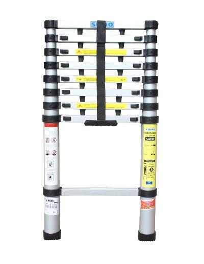 Thang nhôm rút gọn SUMO ADT308B màu bạc thang chữ I chiều cao tối đa 2,6m