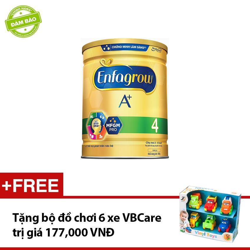 Hình ảnh Sữa bột Enfagrow A+4 900g tặng bộ đồ chơi 6 xe VBCare trị giá 177,000 VNĐ