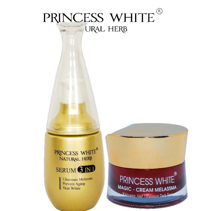 Combo đặc trị nám hiệu quả Serum 3 in 1 + Magic Nám Princess White