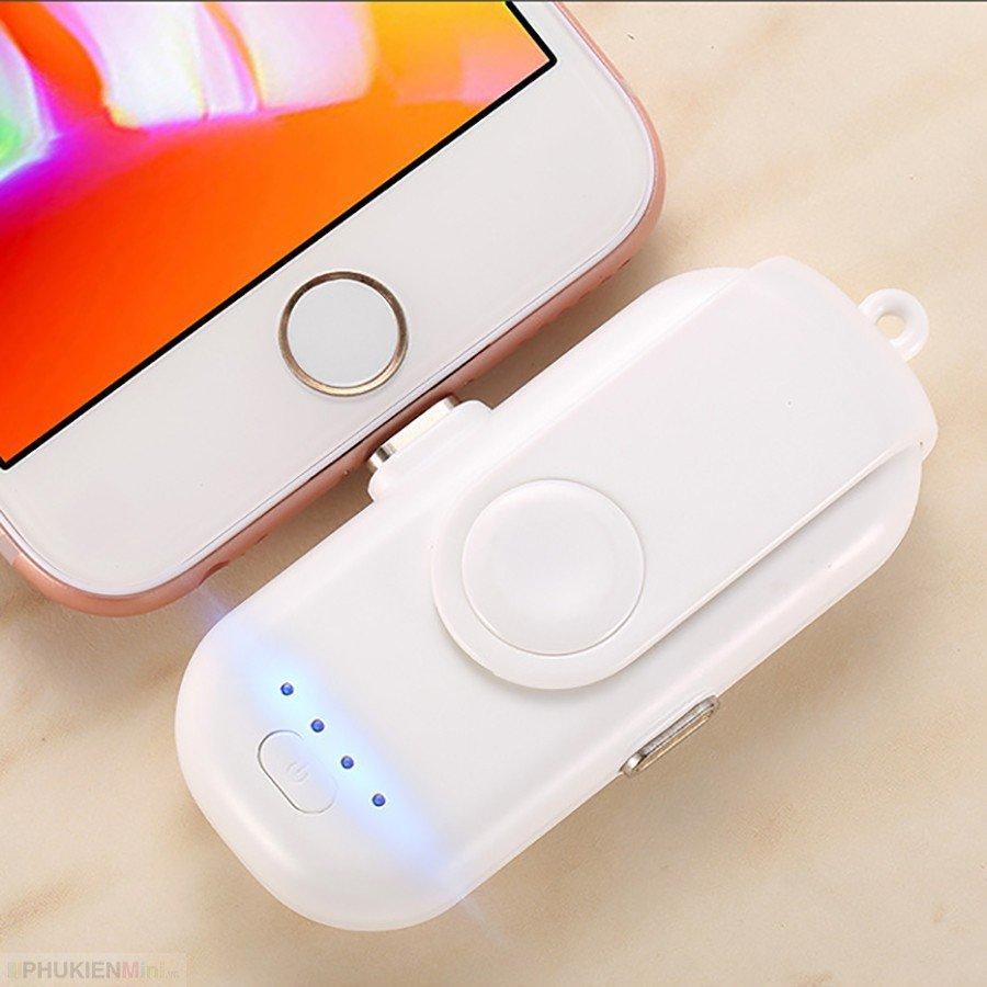 Hình ảnh Pin viên sạc dự phòng mini finger power charger kèm dây sạc nam châm, cổng sạc Lightning, Micro USB, USB-C (Type C)