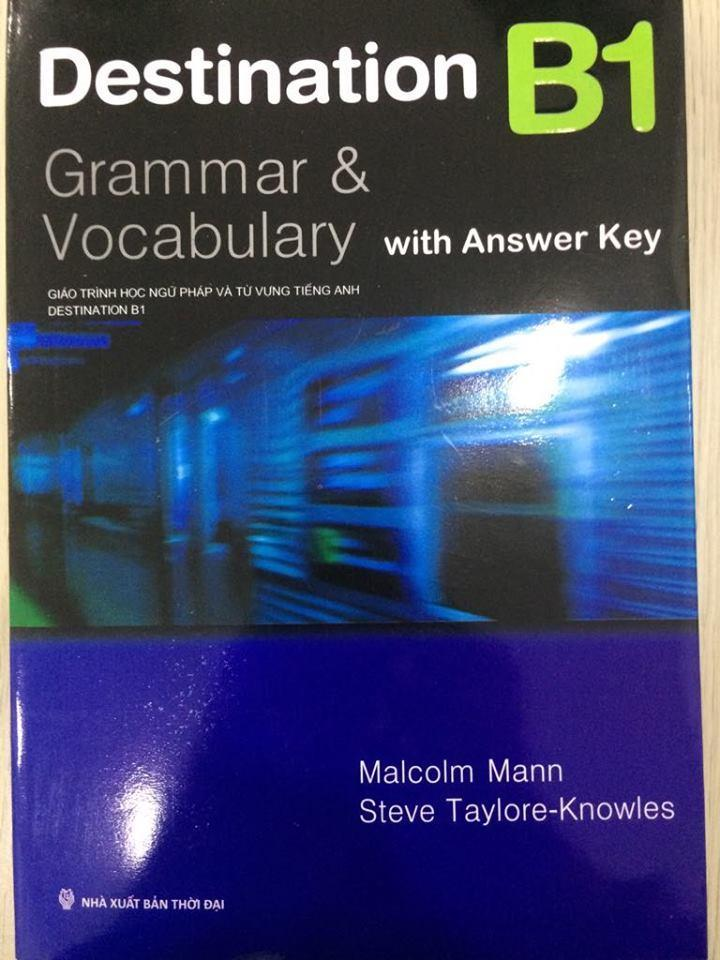 Sách - Destination Grammar & Vocabulary With Answer B1 Khuyến Mại Hot