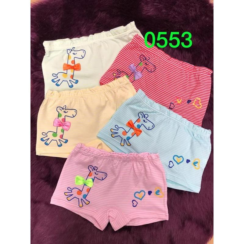 Nơi bán Bộ 10 quần chip đùi cho bé gái (trộn màu ngẫu nhiên) mã 0553