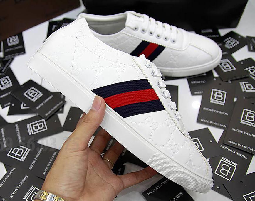 Giày thể thao nam sneaker cao cấp- Giày nam mã M11 (Trường Giang'S shop màu trắng)