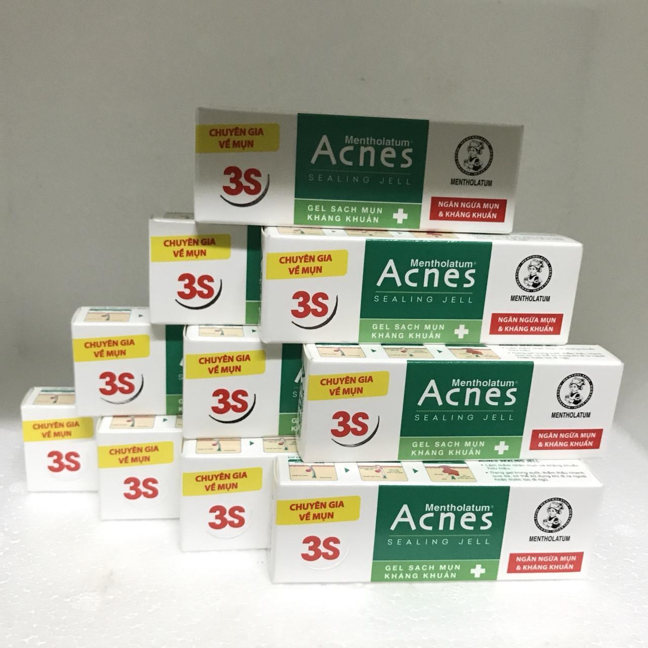 Combo 10 tuýt Gel sạch mụn kháng khuẩn 2g/tuýt Acnet + tặng 1 tuýt cùng loại + tặng 1 túi đựng mỹ phẩm