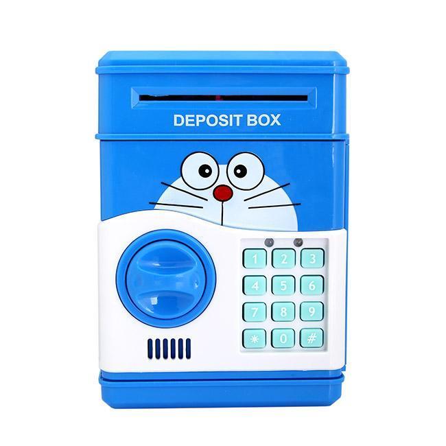 Hộp két mini đựng tiền tiết kiệm cho bé yêu(hồng/xanh)