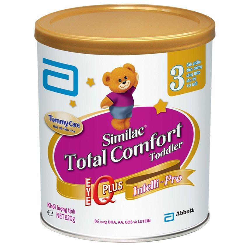 Chiết Khấu Sữa Bột Similac Total Comfort 3 Hương Vani 820G Có Thương Hiệu