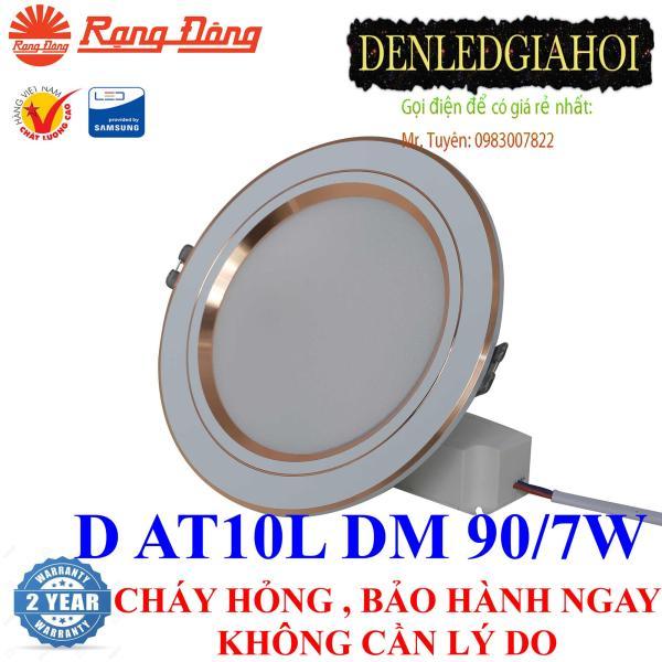 Đèn led âm trần đổi màu 7W Rạng Đông, Model LED downlight D AT10L DM 90/7w