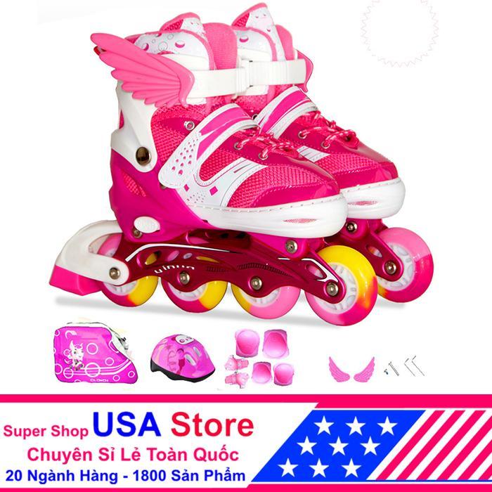 Giày Trượt Patin F1 Cánh Thiên Thần Đủ Bộ Hồng Size M (35-38) ACN1040 -02 NEWT5218