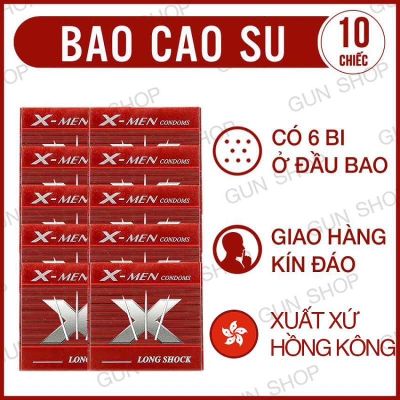 Bộ 10 Bao cao su  Bi  (Hồng Kong)[ Gunshop-BCS05 ]