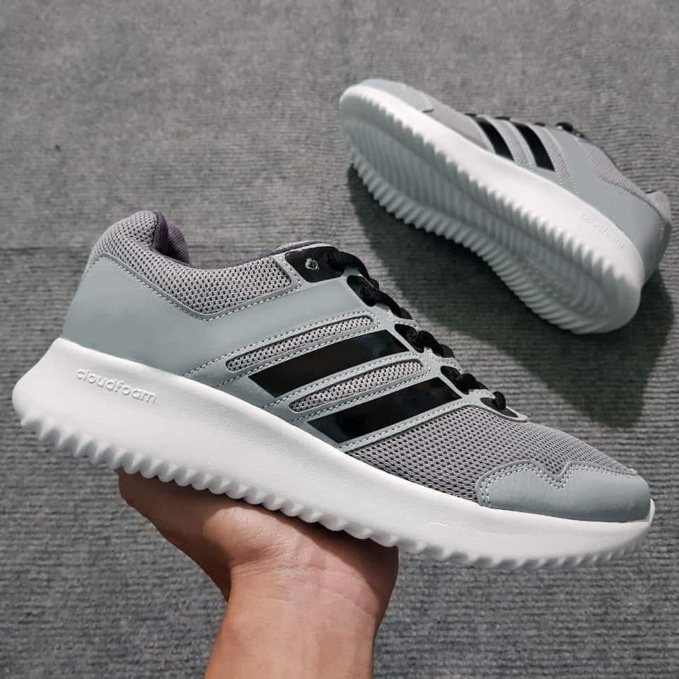 Giày Sneaker Nam Nữ ( Xám Phối Đen ) Nhật Bản
