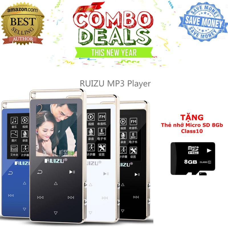 Máy nghe nhạc thể thao HiFi 2018 Ruizu D01 [Công ty nhập khẩu phân phối] - Bảo hành 12 tháng + TẶNG kèm thẻ nhớ Micro SD 8Gb Class 10