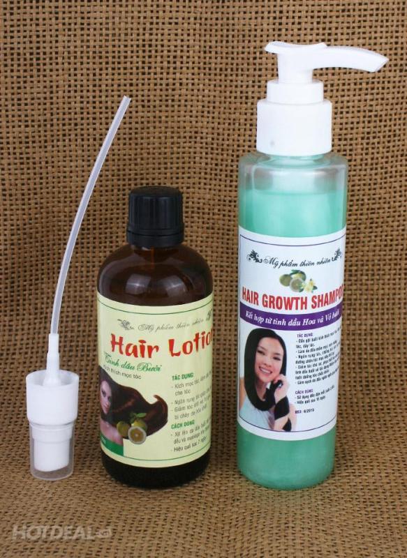 Combo tinh dầu bưởi và dầu gội bưởi kích thích mọc tóc, chống rụng tóc nhập khẩu
