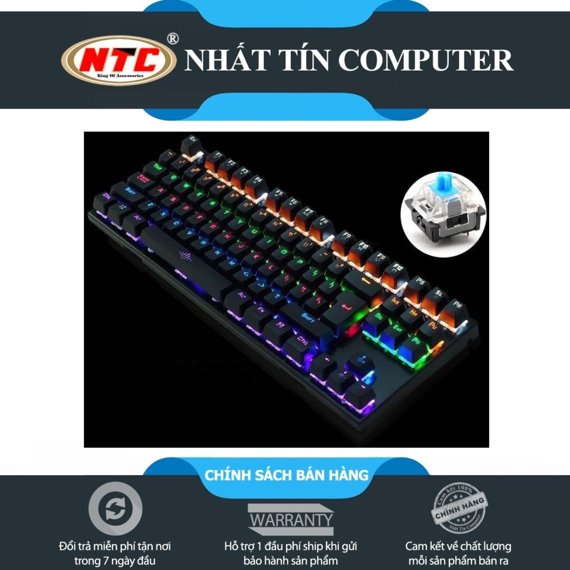 Hình ảnh Bàn Phím Cơ Game Thủ NTC K28 87K - Đèn Led 10 Chế Độ (Đen) + Tặng kèm đế kê tay nhựa