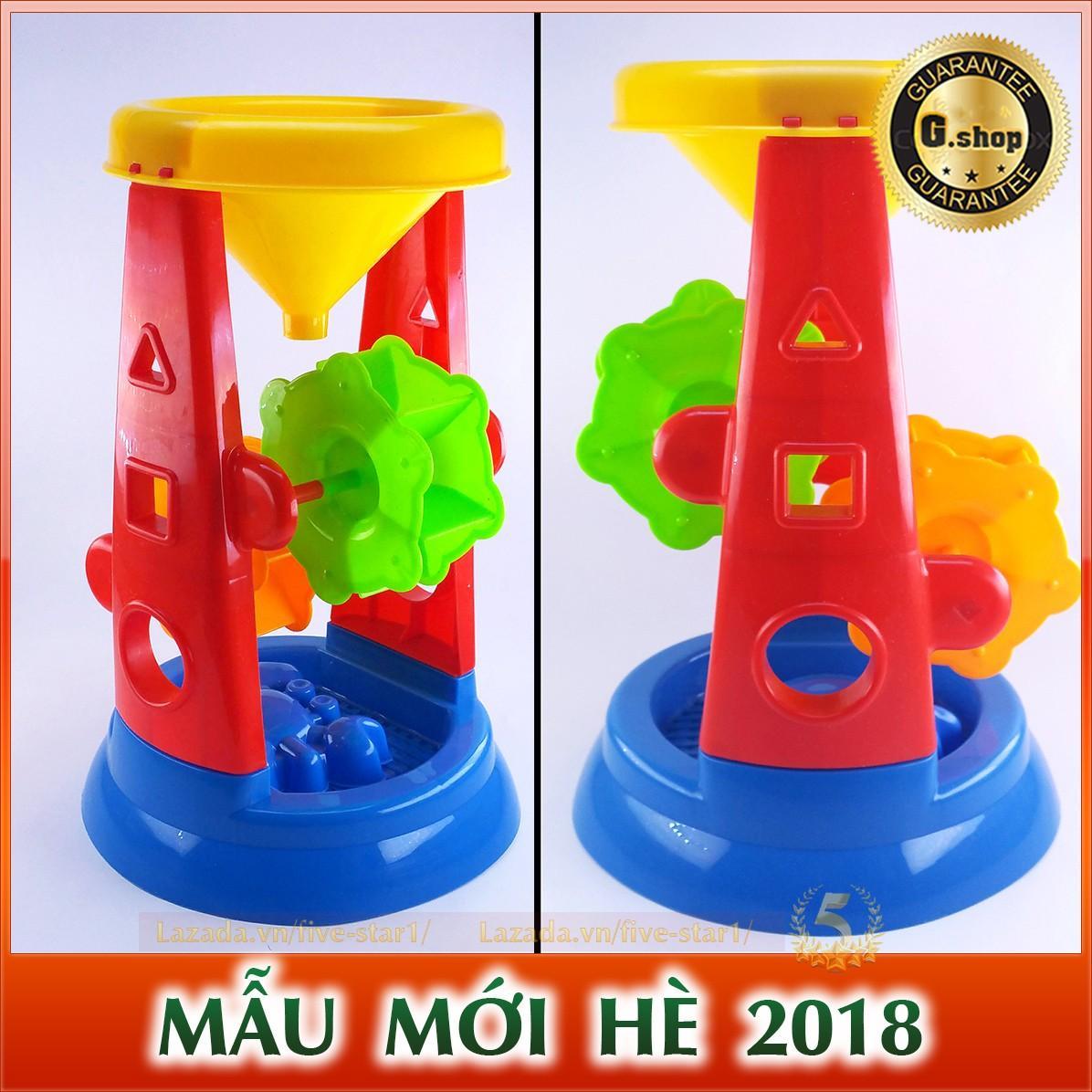 Hình ảnh Bộ đồ chơi xúc cát đi biển có guồng quay thông minh cho bé (THAPCAT.GS30)