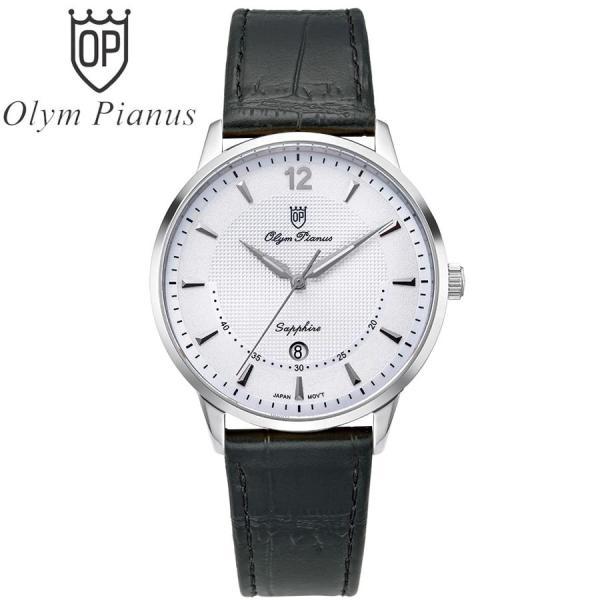 Nơi bán Đồng hồ nam mặt kính sapphire Olym Pianus OP5709MS-GL trắng