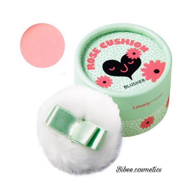 Phấn Má Hồng Lovely Me:ex Pastel Cushion Blusher The Face Shop màu #01 Rose cushion hồng siêu xinh tốt nhất