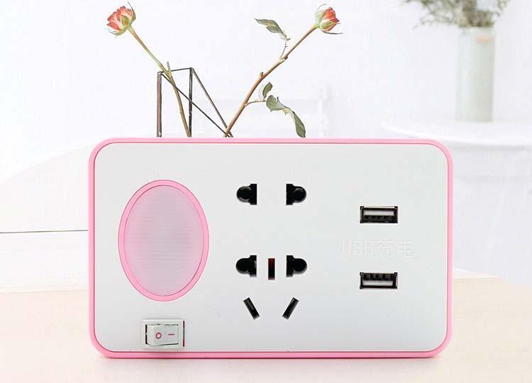 Hình ảnh Ổ cắm điện kèm USB sạc điện thoại và đèn ngủ