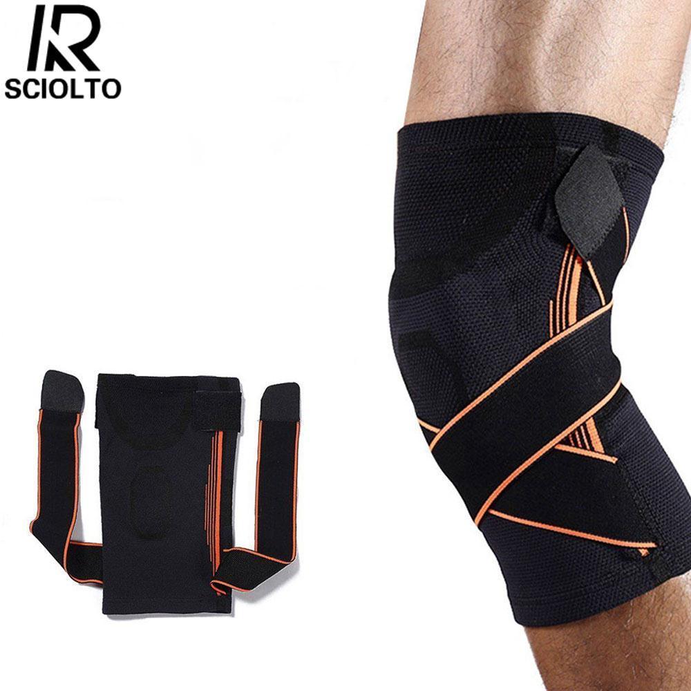Hình ảnh SCIOLTO SPORTS Knee Pad Knee Brace Running Jogging Hiking Climbing Protective Clothing Black - intl