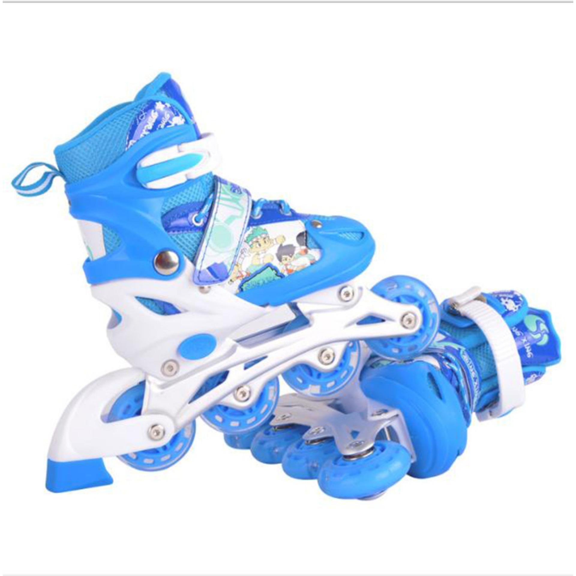 Giá tiền giày trượt patin, Giay truot patin 4 banh gia re, Giày Patin trẻ em tặng mũ và đồ bảo hộ (5 đến 14 tuổi) ôm chân, chắc chắn, an toàn - GIAO HÀNG THU TIỀN TẦN NHÀ - BẢO HÀNH DÀI HẠN