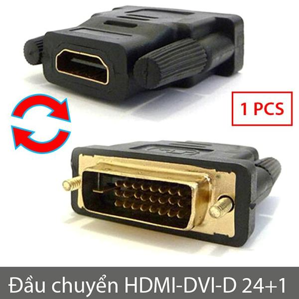 Đầu jack chuyển DVI-D 24+1 sang HDMI và ngược lại (Màu đen)
