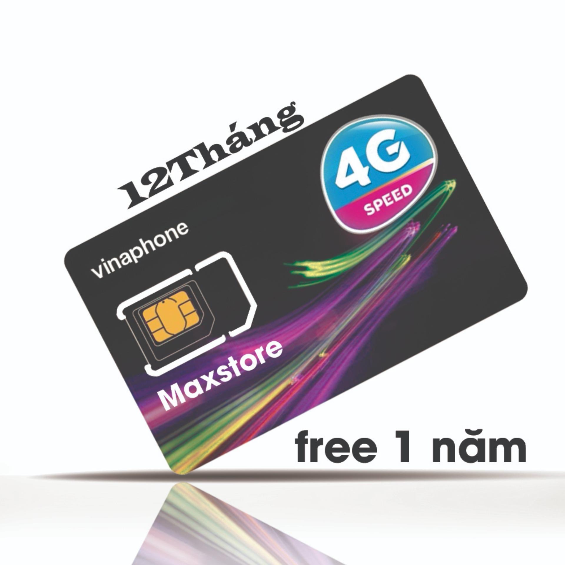 Hình ảnh SIM 4G VINAPHONE VD89-12T Trọn gói 1 năm .Miễn phí(62GB/tháng+43000Phut) x 12 tháng từ Maxstore