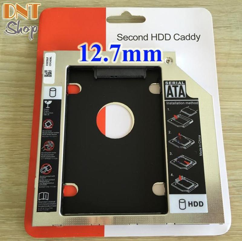 Bảng giá Caddy Bay dày 12.7mm chuẩn SATA 3 dùng để lắp thêm ổ cứng HDD/SSD thay vào vị trí của ổ DVD Phong Vũ