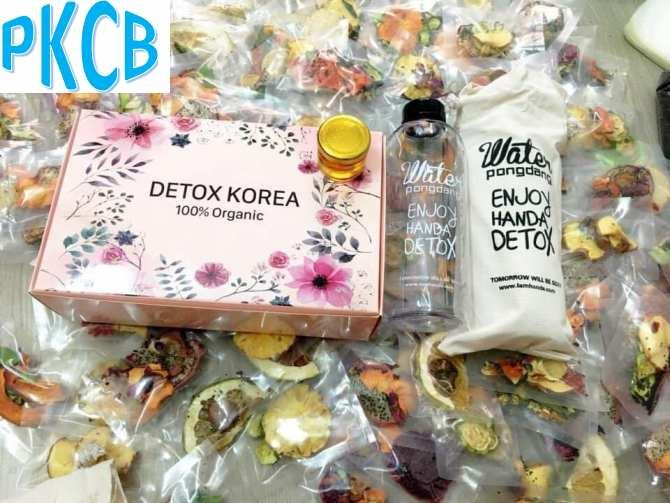 Hộp 30 Set Gói Trà Detox hoa quả sấy khô giảm cân, có mật ongDETOX KOREA Tặng bình Pongdang 600ml (ảnh thật) - PKCB