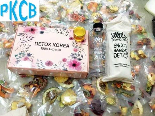 Hộp 30 Gói Trà Detox hoa quả sấy khô giảm cân, có mật ong - DETOX KOREA - Tặng bình Pongdang 600ml (ảnh thật) - PKCB giá rẻ