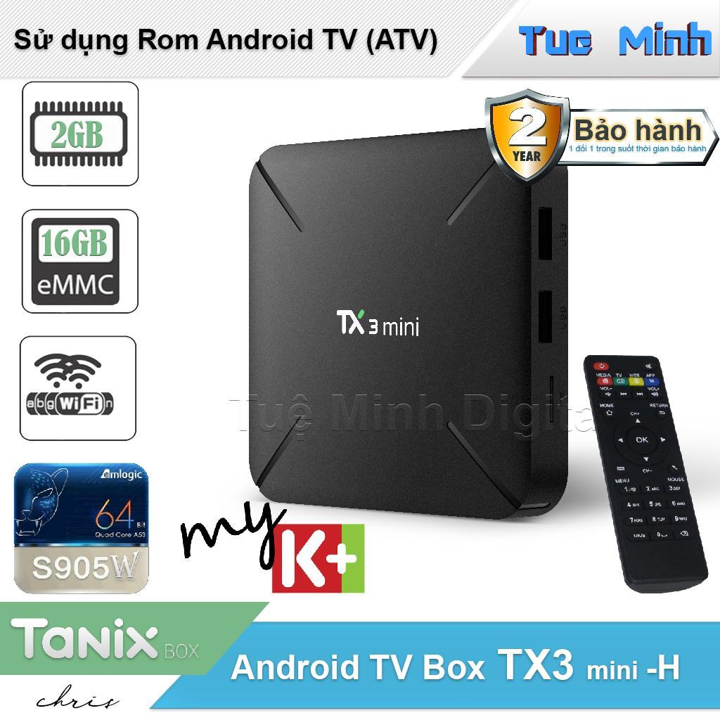 Hình ảnh Android Tivi Box TX3 mini -H - BH 2 năm, 2G Ram và 16G bộ nhớ trong - MyK+, AndroidTV