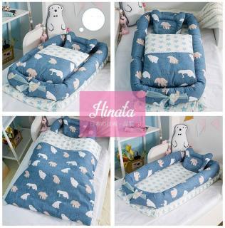 Giường nệm cho trẻ (N02 - kèm chăn) - Thương hiệu Hinata Nhật Bản thumbnail