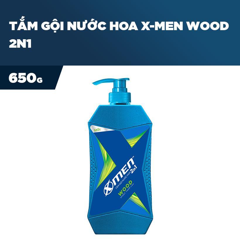 Tắm Gội Nước hoa X-Men Wood 2n1 650g