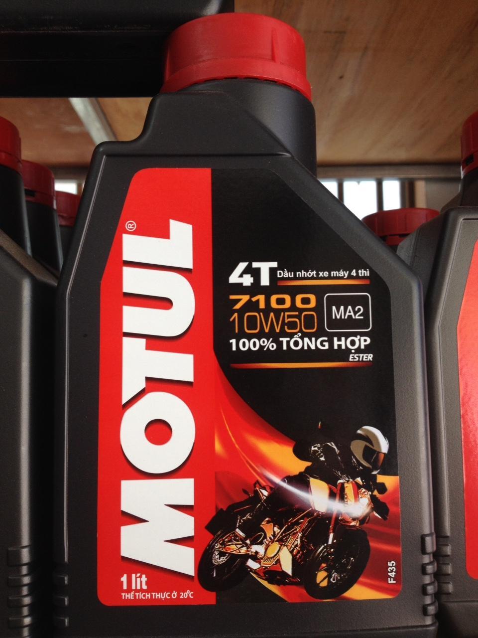 Nhớt MOTUL 7100 10W50 (100% tổng hợp)