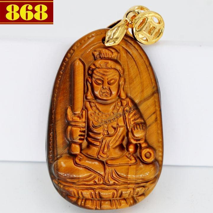 Mặt Phật Bất động minh vương đá mắt hổ 3.8cm