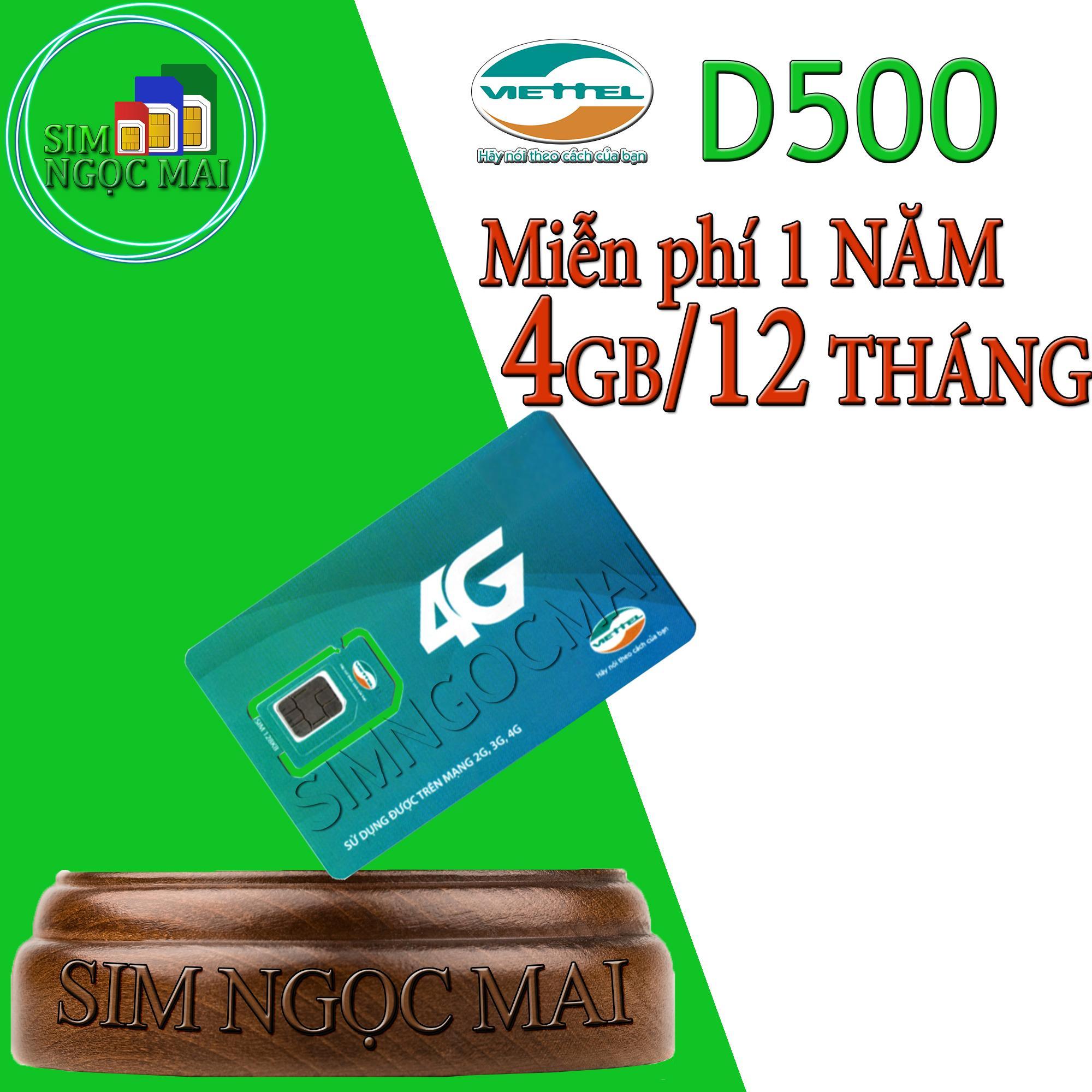 Mã Giảm Giá Khi Mua Sim 4G Viettel D500 4Gb/tháng Trọn Gói 12 Tháng