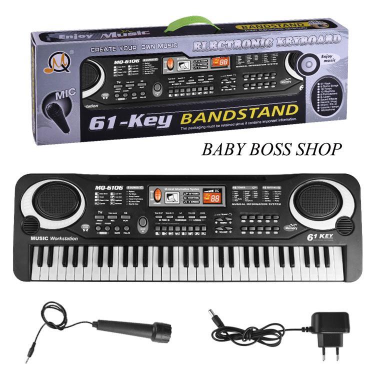 Đàn Piano điện Tử 61 Phím Đồ Chơi âm Nhạc Đồ Chơi Cho Bé Đàn Cho Bé By Babyboss Shop.