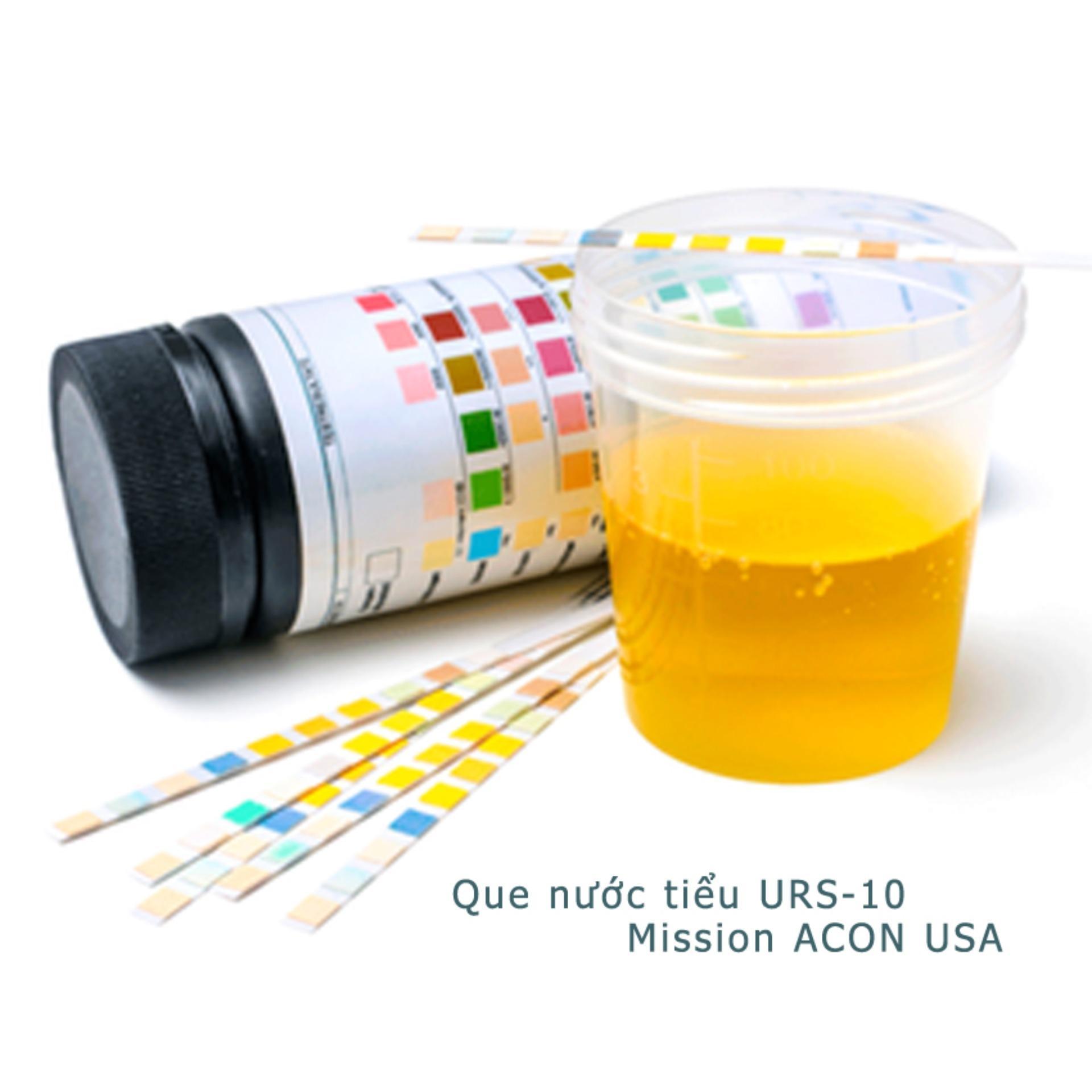 Hình ảnh Que thử nước tiểu Acon Mission 10 thông số