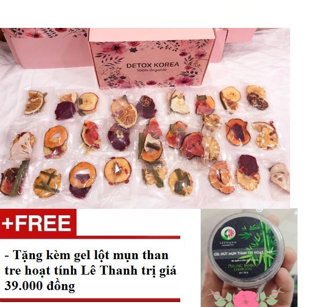 Hình ảnh Detox trái cây Set 30 ngày kèm bình,hộp tặng lột mụn than tre
