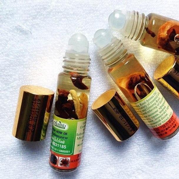 Offer Giảm Giá Dầu Gió Thảo Dược Green Herb  Thái Lan  8ml