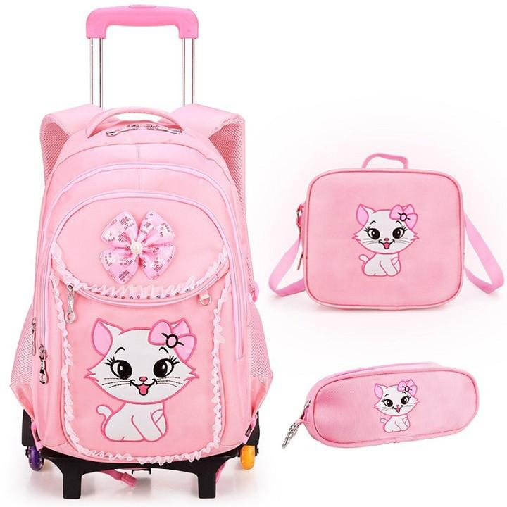 Balo kéo học sinh Hello Kitty