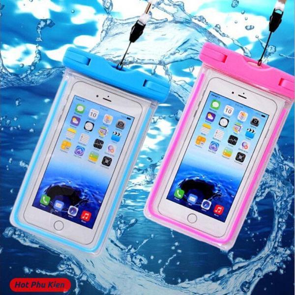 [HCM]Túi chống nước WaterProof dạ quang phát sáng cao cấp cho điện thoại 6 inch chuẩn chông nước IPx8 cao cấp (Màu ngẫu nhiên) - Phân phối HotPhuKien