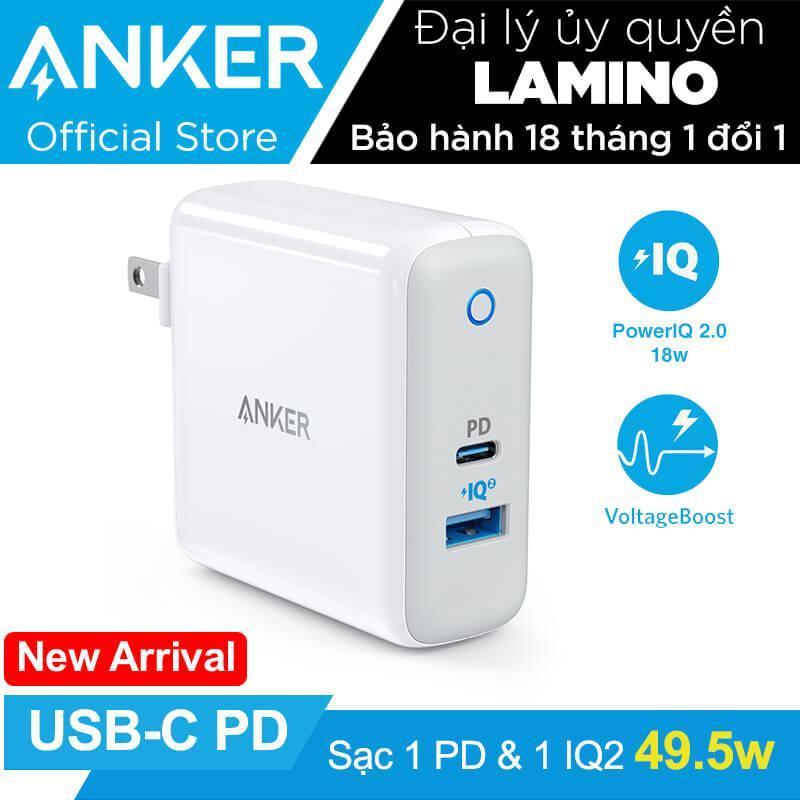 Giá Sạc ANKER PowePort II PD 49.5w (1 USB-C PD và 1 Power IQ 2.0) - A2321