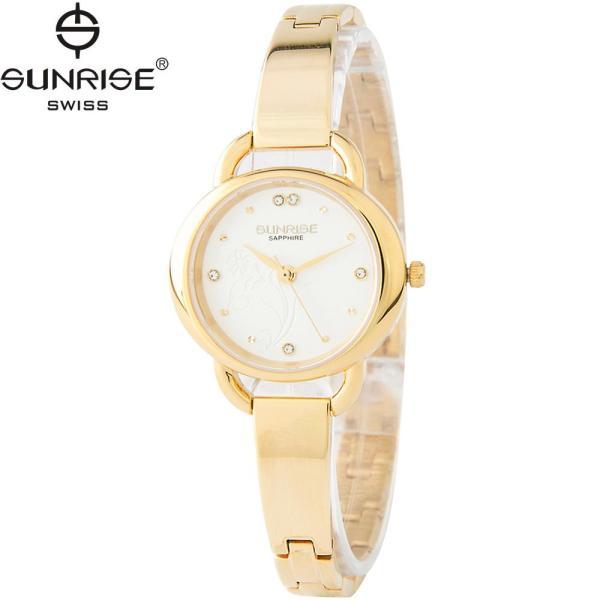 Đồng hồ nữ dây kim loại mặt kính sapphire chống xước Sunrise Sunrise SL9923LK