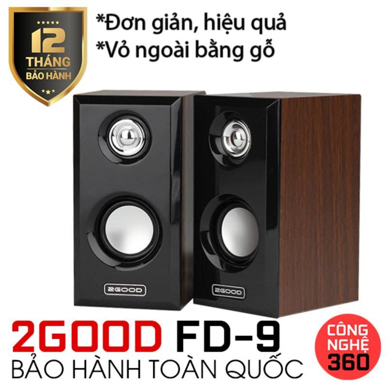 Loa máy tính 2.0 2GOOD Music FD9 (Nâu phối đen)